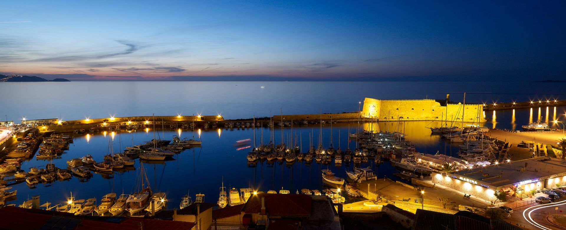 Panoramic view to Heraklion Venetian fortress